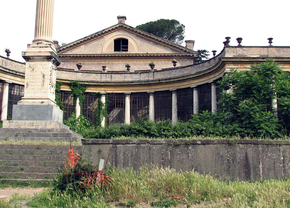 01 fronte sud del teatro di Villa Torlonia-stato di fatto