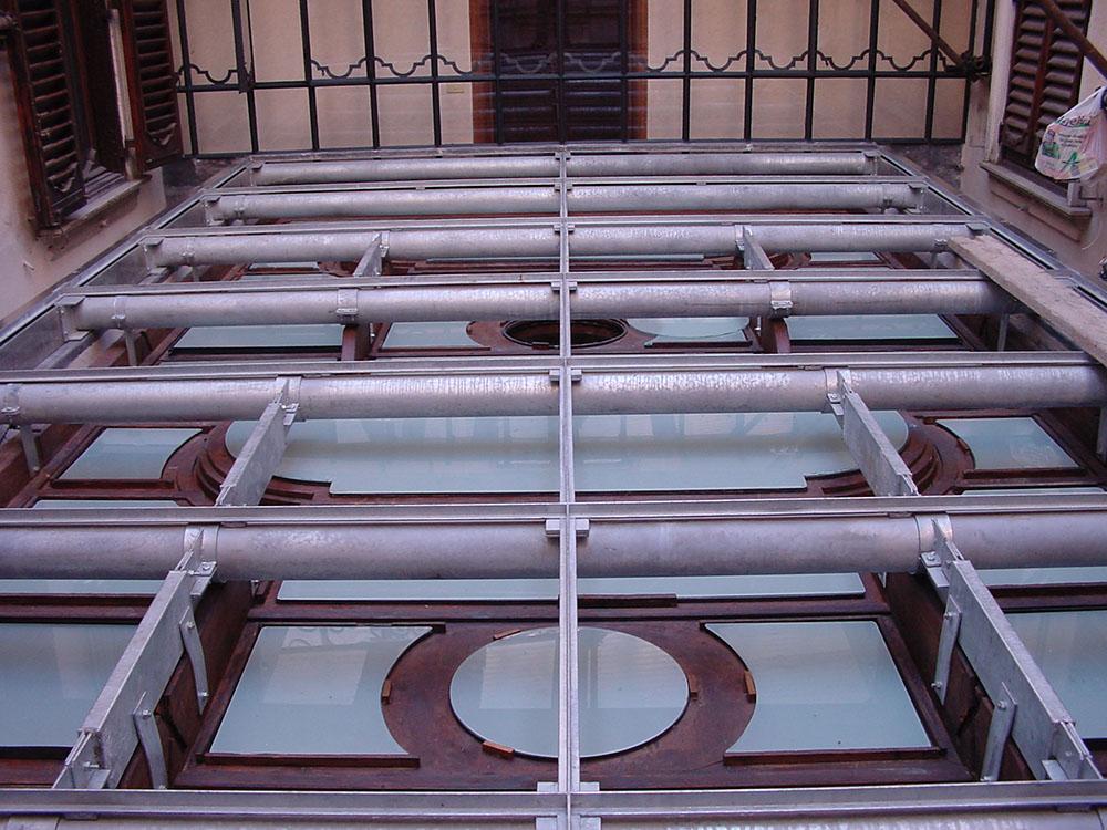 01 lucernario in vetro e legno-lavorazioni estradossali