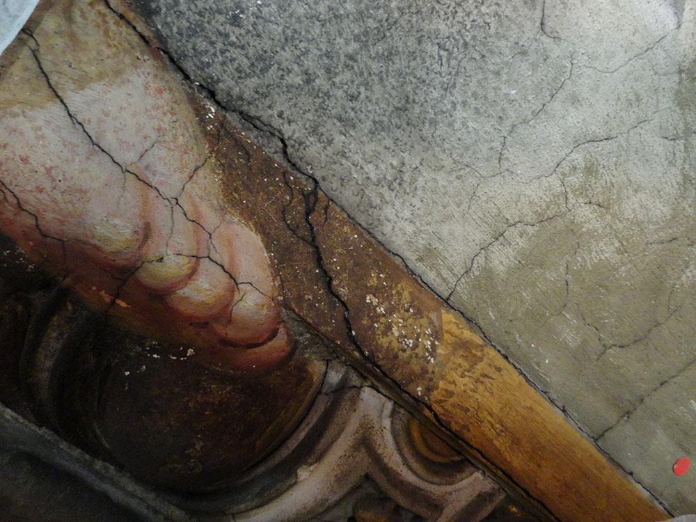 01b fessurazioni presenti sui dipinti dei quattro pennacchi
