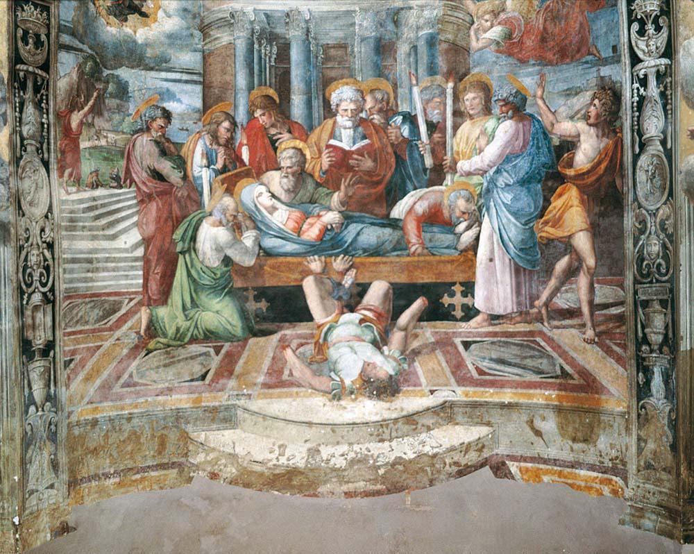 02 dettaglio raffigurante la morte della Vergine