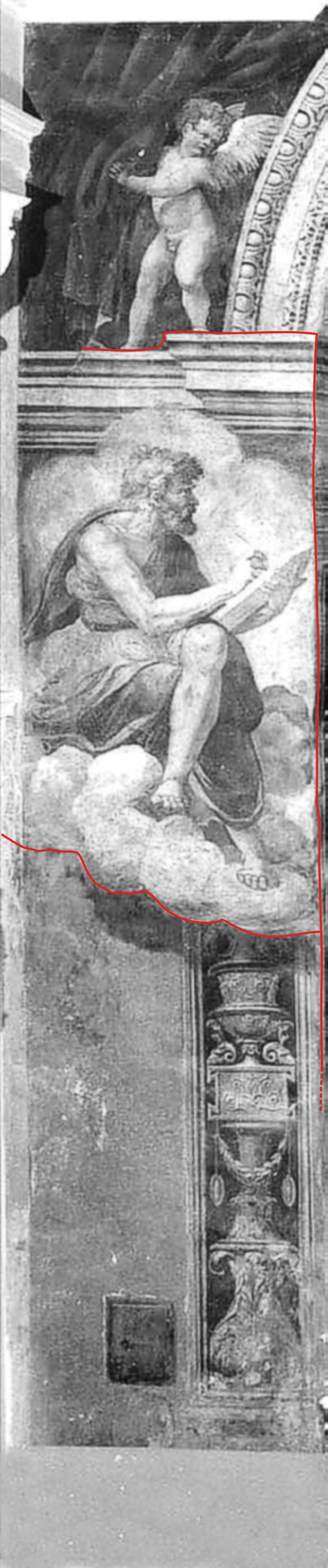 03 dettaglio affreschi dell'abside-profeta sx