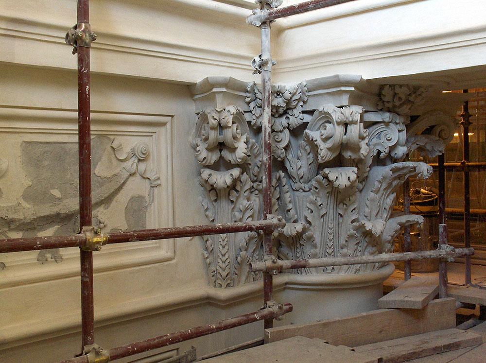 03 particolare di un elemento decorativo restaurato