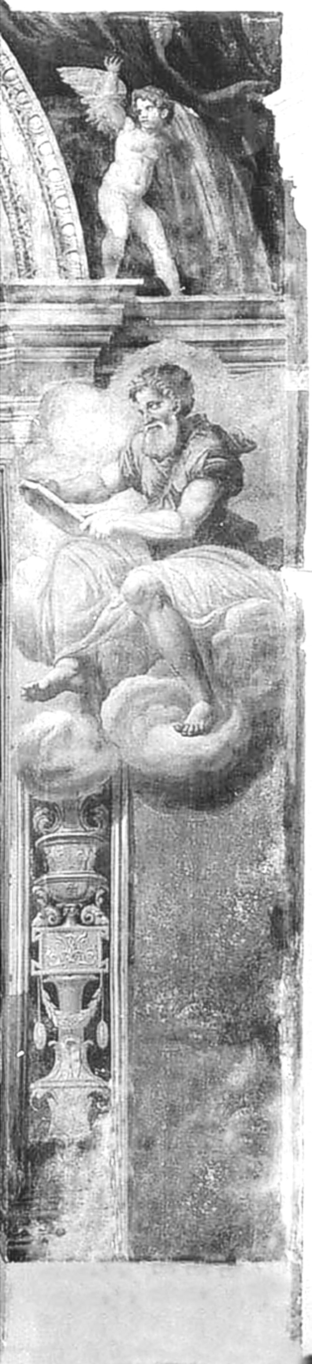 03a dettaglio affreschi dell'abside-profeta dx