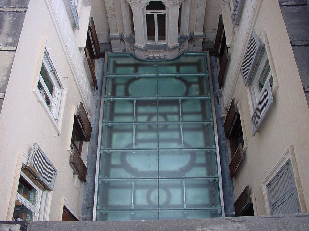 05 vista del lucernario dopo gli interventi di restauro