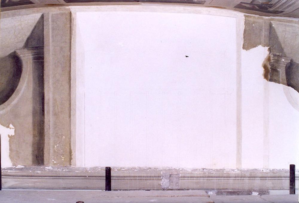 08 lunetta B, stuccatura della lacuna