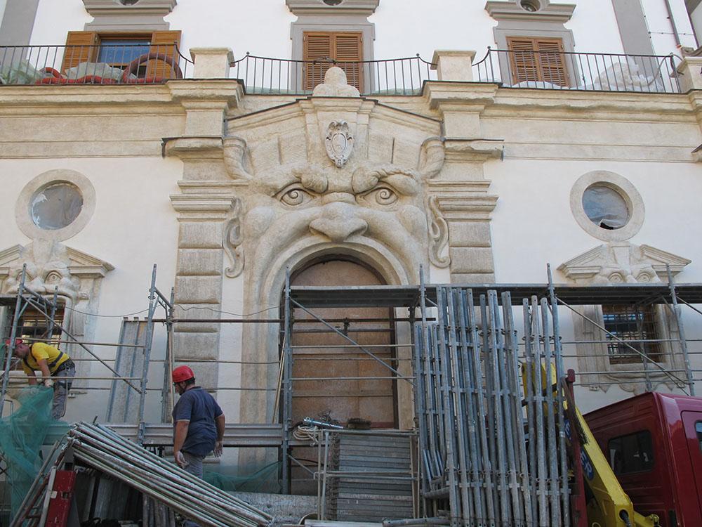 10 smontaggio dei ponteggi al termine degli interventi di restauro