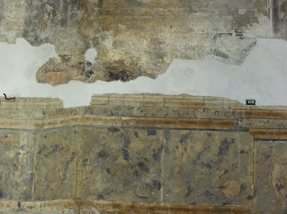 10 un dettaglio delle superfici dopo i restauri conservativi