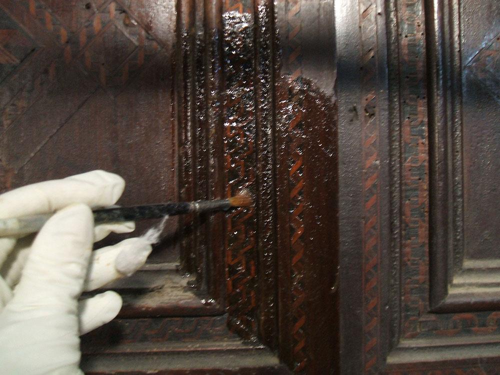14 rigonfiamento delle materie applicate negli interventi manutentivi precedenti