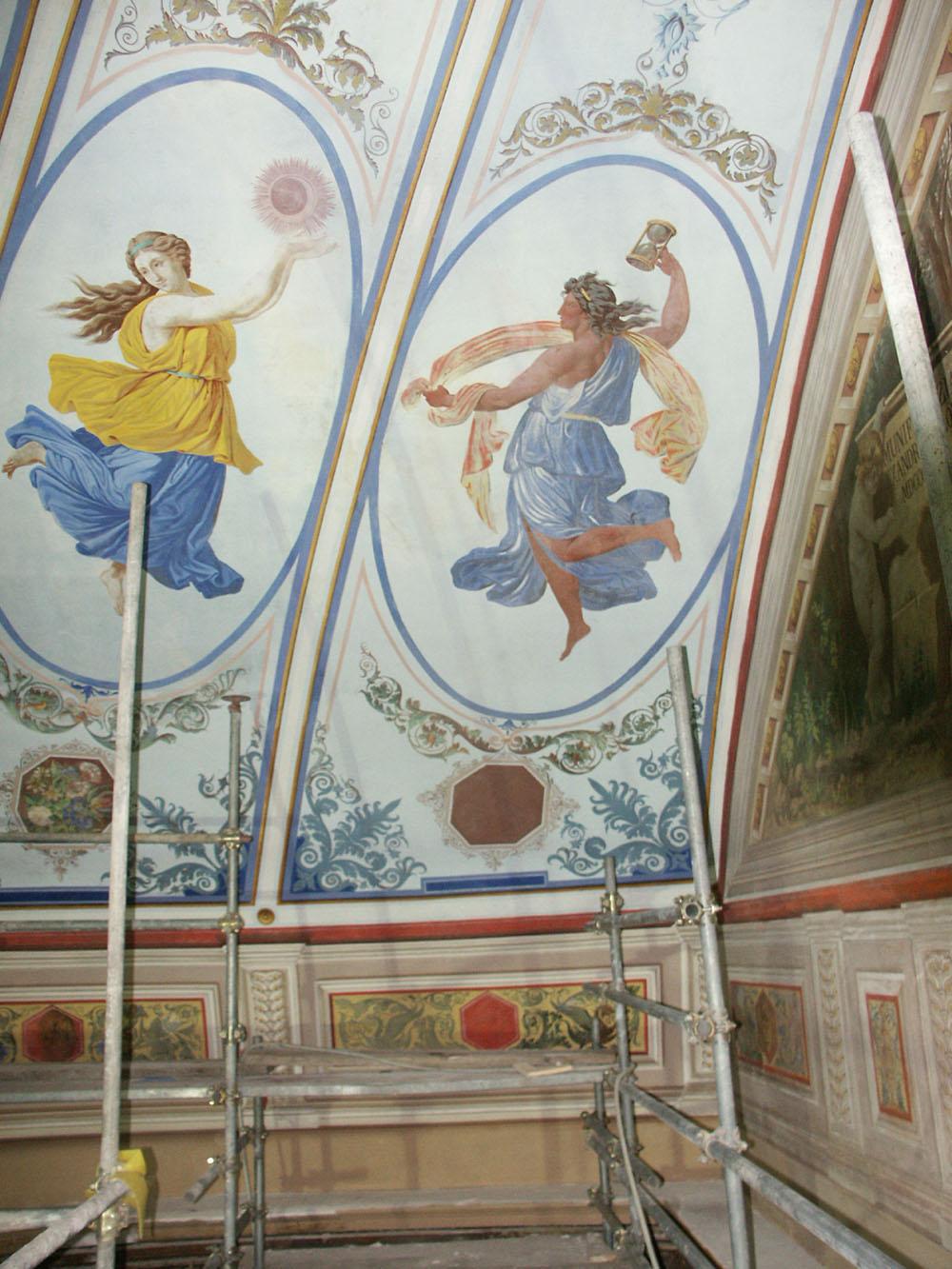 16a-particolare-dei-dipinti-murali-della-cupola-dopo-gli-interventi