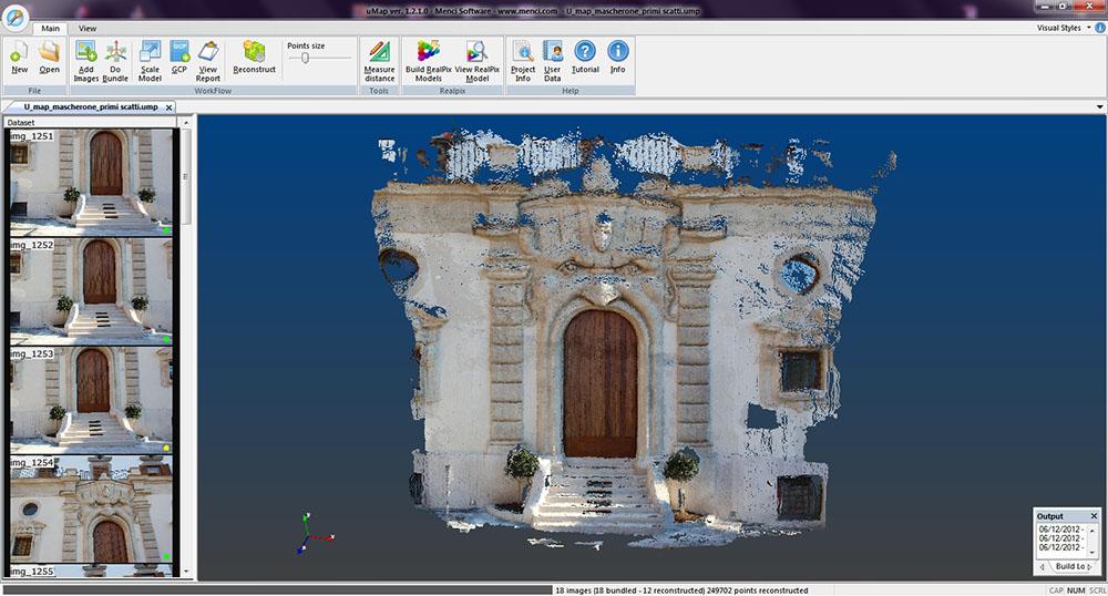 2012_Roma Palazzo Zuccari Particolare della nuvola di punti 3D del Mascherone