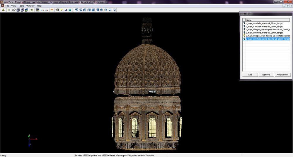 2013_Roma San Biagio Restituzione  della nuvola 3D cupola