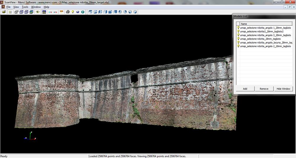 2014_Pisa  Nuvola di punti 3D di una porzione del Bastione,