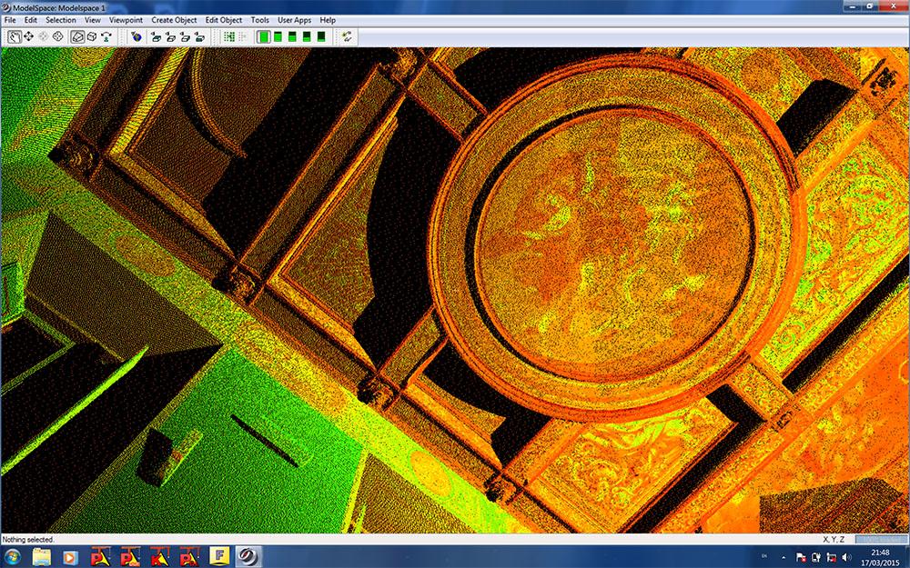 2015_Roma Palazzo Corcos Boncompagni Un dettaglio della nuvola 3D con informazioni colorimetriche copia