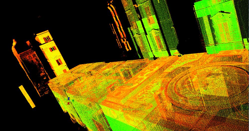 2015_Roma Palazzo Corcos Boncompagni Un ulteriore dettaglio della nuvola 3D con informazioni colorimetriche