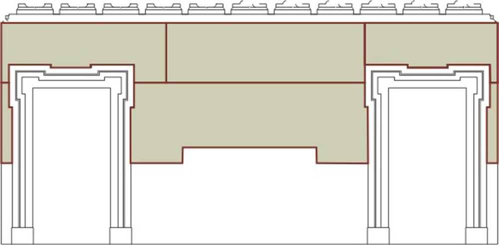 08 Graficizzazione del posizionamento del pannello sul la parete
