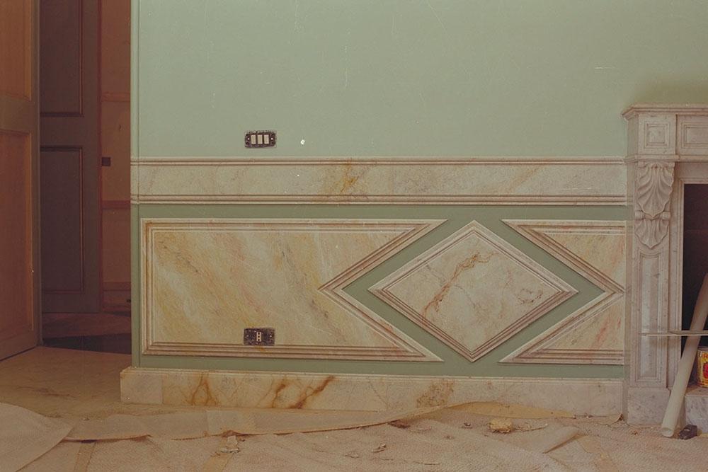L 3 realizzazione di lambris a finto marmo